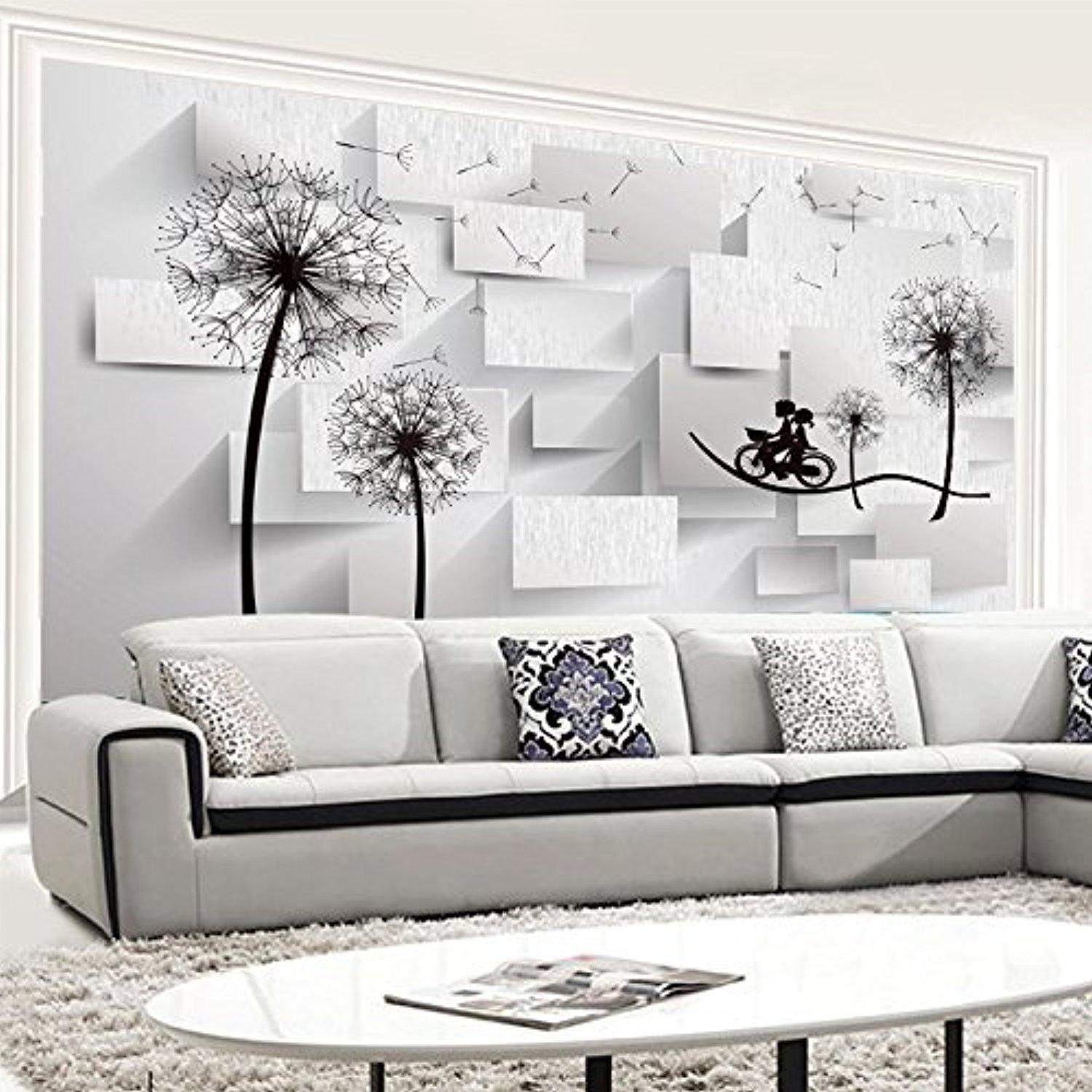 FEI&S TV background wall non-woven wallpaper mural simple and seamless wall covering the living room 3D video wall-papers, Korea paper/non,woven mosaic