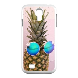 Samsung Galaxy s4 Case, LEDGOD Fashionable Gift DIY Pineapple White Cover Phone Case for Samsung Galaxy s4 Shell Phone.