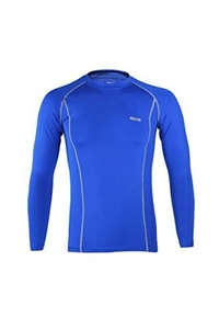 ARSUXEO Cycling Sports Running Fitness Bike Bicycle Baselayer Underwear Long Sleeve Jersey Quick Dry Shirt Men Bright Blue M by ARSUXEO