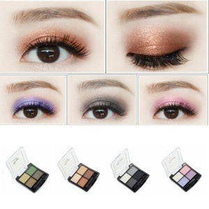 HUBEE 4 Colors Fashion Glitter Eyeshadow Palette Natural Cosmetics Makeup Shining Eye Shadow With Brush