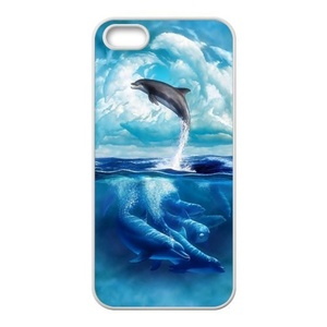 Case for iPhone SE,Cover Case Skin for iPhone5S,Case Cover for iPhone SE/5/5S,Fashion Dolphin Design Rubber TPU Case Cover for IPhone 5/5S,iPhone 5 Coque,Phone Case for iPhone 5S SE