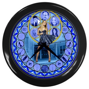 Wall clock 1CSTG285 Superstar Girl Stained Glass Leather Watch