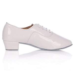 white shoes/ the boys ' shoes/End of soft leather men's Latin shoes-A Foot length=25.8CM(10.2Inch)