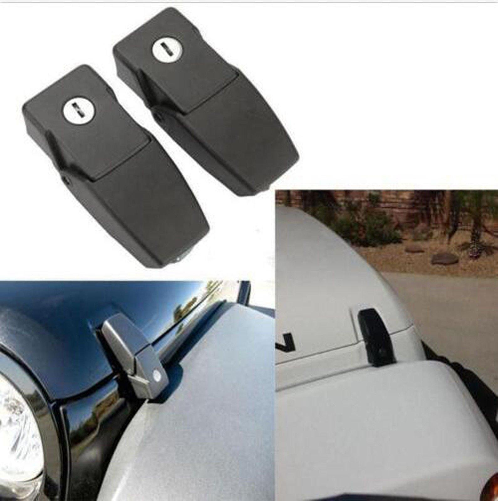 Online Store Fmtoppeak 1 Pair Black Catch Latches Kit Locking Hood Jeep Wrangler Release Latch For 2007 2016