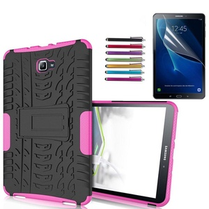 Mignova Galaxy Tab A T580 Case, Heavy Duty Hybrid Armor Protective with kick Stand Case for Samsung Galaxy Tab A 10.1 inches SM-T580/t585 (Pink)