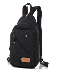 Unisex Multipurpose Casual Canvas Sports Travel Crossbody Sling Bag Hiking Gym Messenger Daypack Unbalance Chest Fanny Pack Pouch Shoulder Bag Backpack Rucksack Satchel for Men Women