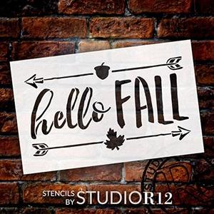 Hello Fall - Shabby Chic - Word Art Stencil - 12