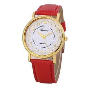 Women Watch ,Malltop New Fashion PU Leather Band Analog Quartz Wrist Watch Red