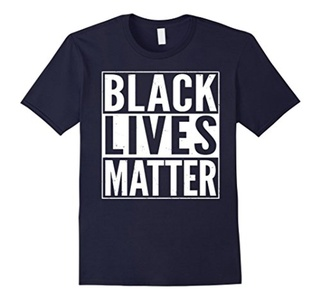 Men's Black Lives Matter Political Protest T-Shirt XL Navy