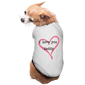 Lovely Pet Supplies I Love You Daddy Dogs T Shirts