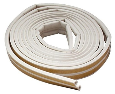 M-D Building Products 2576 All-Climate Edam Weatherstrip, P Strip, 17 Feet, White by M-D Building Products