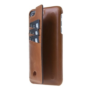 Apple iPhone 7 Plus Burkley Premium Luxury Leather Ultimate Snap-On Case with Kickstand and Credit Card Slots Handmade and Genuine Leather Case for Apple iPhone 7 Plus (Burnished Tan)