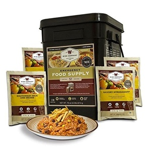 Emergency Food Supply Preparedness Meals- Lightweight Portable Survival Buckets- MSG Free 20 Minute Preparation Add Water Enjoy- Be Prepared For Coming Days Ahead- Starter Pack of 52 Meals- PREPARE