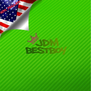 NO FREE KIT 3D Green Carbon Fiber Textured Car Vinyl Wrap Sticker Decal Film Sheet - 4