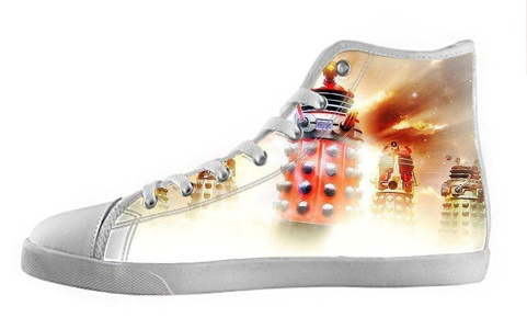 Movie Doctoc Who Men's High Top Canvas Shoes-9M(US)