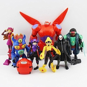 Big Hero 6 PVC (8pcs/set) Figures Fred Tomago Honey Lemon Wasabi Friends Action Figure Doll Toys by mode toy by mode toy