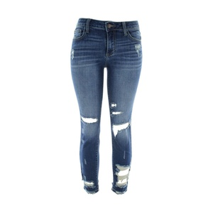 Cello Jeans - Women's Rips Bottom Skinny Jeans - Dark Blue