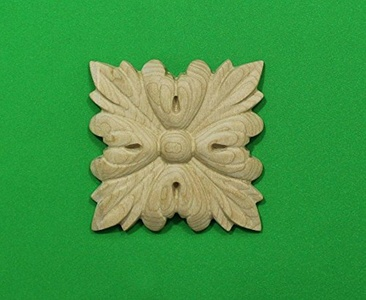 Carved wood decor element