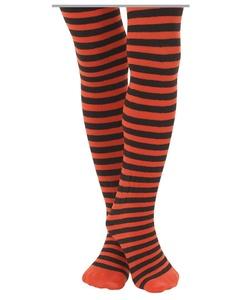 Jefferies Socks Orange/Black Stripe Tights (4-6 yrs)