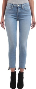 Frame Le High Skinny Raw Stagger Zip Jean in Jackson