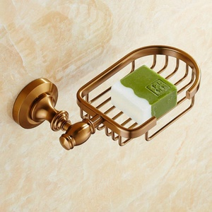 European-style antique brass Towel rack/Space aluminum bathroom racks/Bathroom hardware accessories set-M