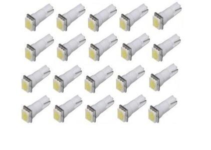 Fengfang 20PCS LED Car Lights Bulb White T5 5050 1-SMD 1smd 17 18 27 37 58 70 73 74 79 85 86 2721