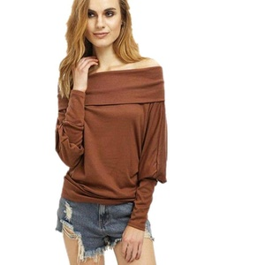 Women Casual Tops, Misaky Off Shoulder Long Sleeve Ladies Casual Tops T-Shirt (M, Coffee)