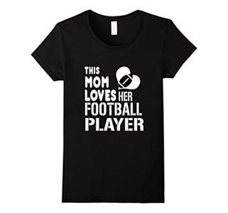 Women's This Mom Loves her Football Player - Football Mom T-Shirt
