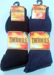 6 Pair Mens Thermal Socks Black Size 6-11 by JD Bug