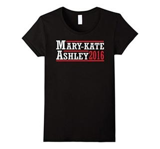 Women's Mary Kate Ashley Sister Olsen President Political US Shirt Large Black