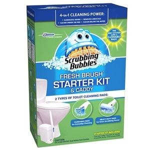 2 X Scrubbing Bubbles Fresh Brush with Storage Unit 1 ea