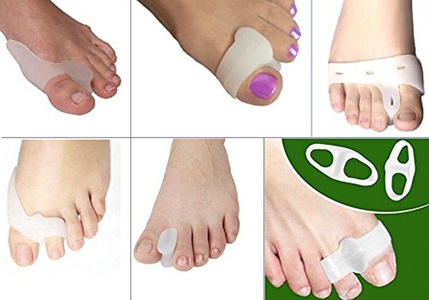 Cerkos Foot Care - Bundle Savings Package - Gel Toe Separators, Bunion Splints, Toe Straightener, Big Toe Bunion Relief which can Reduce Toe and Foot Discomfort, Stretch and Align Toes, Increase Circulation, Straighten Bent Toes, Improve Balance and Foot Strength (5 Pairs - (Save $9.96) ~~~> Price: $19.99, Product 2)
