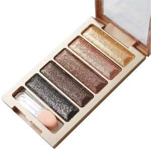 BESSKY New 5 Color Glitter Waterproof Eyeshadow Makeup Eye Shadow Palette (C)