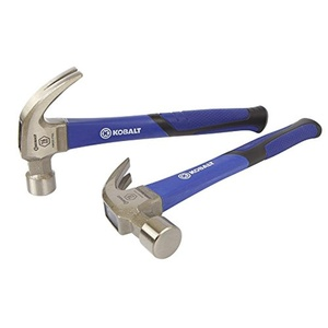 Kobalt 16-oz Smoothed Face Steel Claw Hammer with Slip-Resistant Fiberglass Handle (1-Pack)