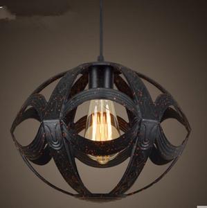DMMSS Iron Fish Line Nordic Chandelier Village Retro Restaurant Lighting Bar Lamp Creative Personality Industrial Wind Armor Lamps