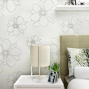CCWY 3d non-woven cloth wallpaper idyllic large three-dimensional wallpaper living room TV wall bedroom