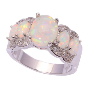 FT-Ring White Opal Jewelry Wedding Ring For Women Engagement Wedding Bridal Rings (11)