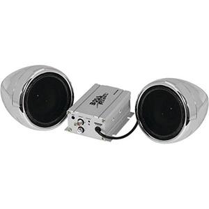 Boss Audio Mc420b 600-Watt Motorcycle/all-Terrain Speaker & Amp System (silver, With Bluetooth(r) Audio Streaming) 15.5