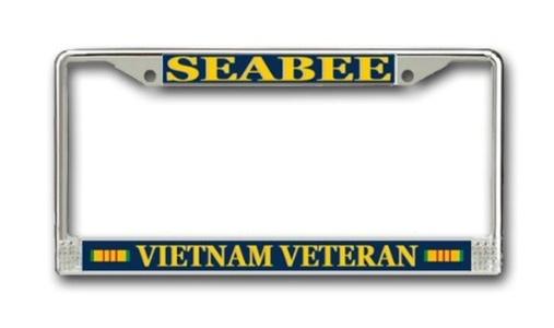 US Navy Seabee Vietnam Veteran License Plate Frame by Navy License Plate Frames