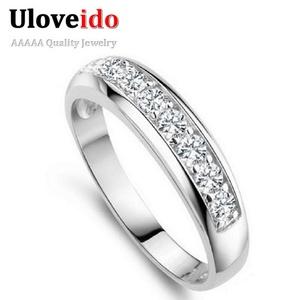 Slyq Jewelry Fashion Engagement Women Ring Jewelry Crystal Ring J294