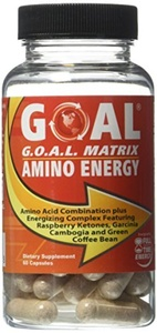 GOAL - G.O.A.L. MATRIX AMINO ENERGY 60 Capsules - Amino Acids Combination with Full-Time Energy Pills Formula - Fortified with Super Fruits as Seen on TV Raspberry Ketones, Garcinia Cambogia, Green Coffee Bean Extract - Best Fat Burner Weight Loss Supplement Diet Pills for Men and Women by GOAL Naturals