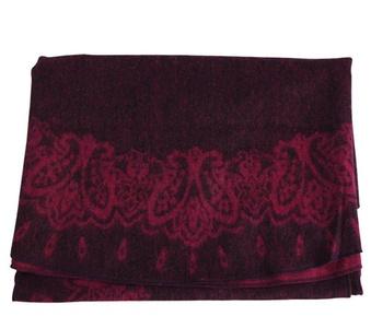 J-SUN-7 Womens Wool Round Cloak Stole Wrap(Purplish Red, 54(inch))