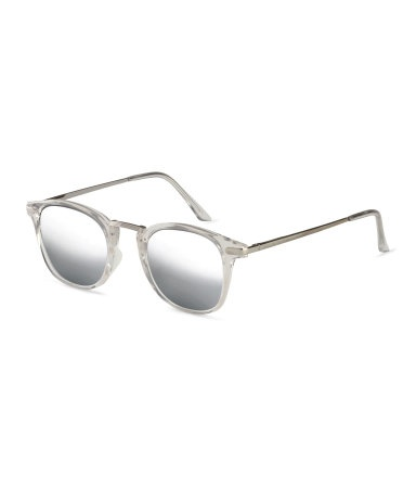 Sheer Plastic Tinted Sunglasses