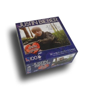 Justin Bieber 100 piece Puzzle with Bonus Card by Top Dog