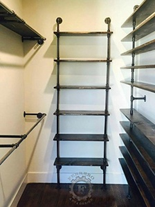 6 Tier Shelf Steampunk Shelf, Industrial Shelf, Store Shelf, Book Shelf, Steampunk Decor, Industrial Decor, Closet Organizer, Store Decor