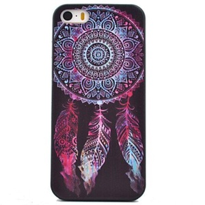 Campanula Pattern Black TPU Soft Case Phone Case for iPhone 5/5S ( Compatible Models : IPhone 6s/6 )