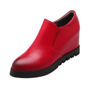 Show Shine Women's Platform Hidden Wedges Heel Ankle High Boots (7, black)