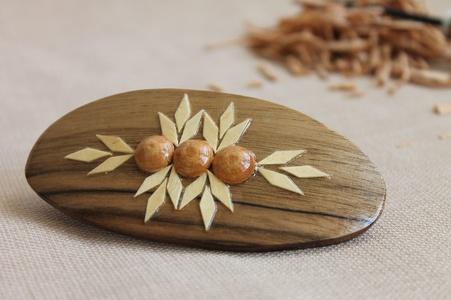 Wooden barrette Women's Beautiful stylish varnished hair clips for Women Handmade