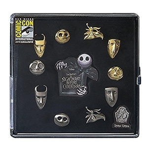 Nightmare Before Christmas Pewter Pin 10 Piece SDCC Set by The Nightmare Before Christmas