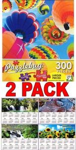 Up Up Up! - 300 Piece Jigsaw Puzzle Puzzlebug + Bonus 2017 Magnetic Calendar - (Bundle - 2 Items)
